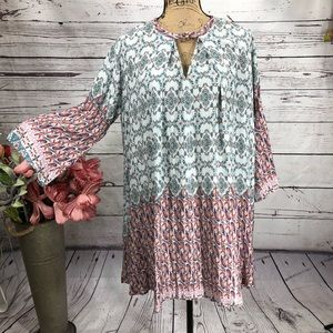Umgee Floral BOHO Festival Ready Mini Dress
